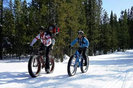 snow bike family