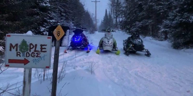 Snowmobiles trail 8